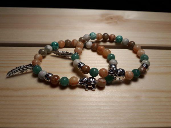 Gemstone friendship bracelets - all handmade by the DreamCatchingDuo - www.dreamcatchingduo.com