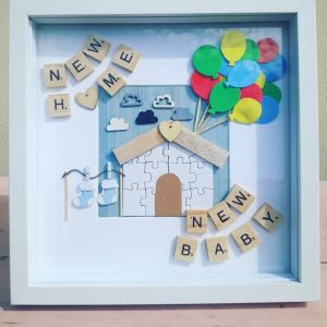 New Home, New Baby - Unique Frames - all handmade by the DreamCatchingDuo - www.dreamcatchingduo.com