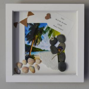 Phuket Wedding, stone art, Beach wedding - Unique Frames - all handmade by the DreamCatchingDuo - www.dreamcatchingduo.com