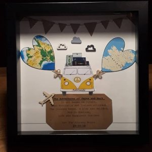 adventure times ahead, new beginnings, unique gift for her, unique gift for him, love of oz, oz bound, oz,-ireland, sorry your leaving, leaving gift, unique gift for couple, love across the miles, - Unique Frames -all handmade by the DreamCatchingDuo - www.dreamcatchingduo.com