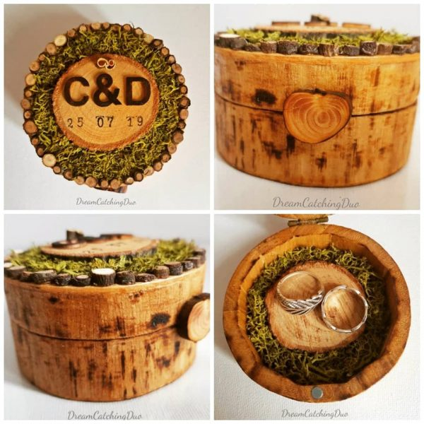 wedding ring box, special day, wedding day, crafty weddings, natural, eco wedding, whimsical wedding, gift box, special box, hand made gifts, handmade, moss and wood